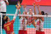 Adelina Ungureanu în atac împotriva Ungariei la Campionatul European