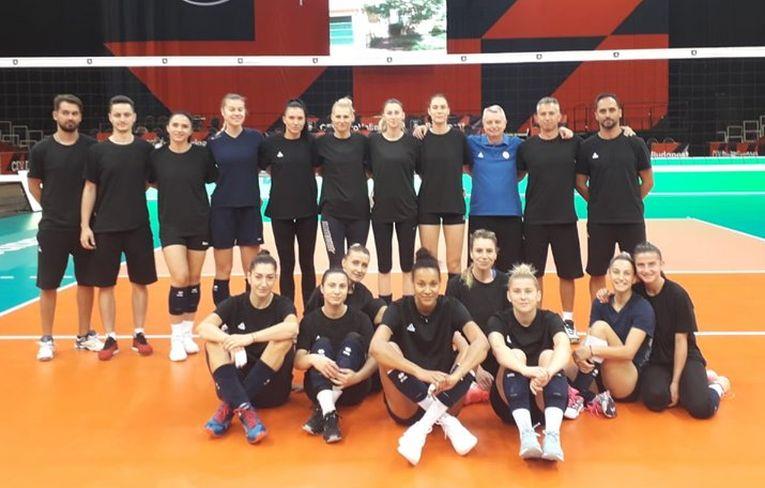 Echipa Romaniei, după primul antrenament din sala de la Budapesta