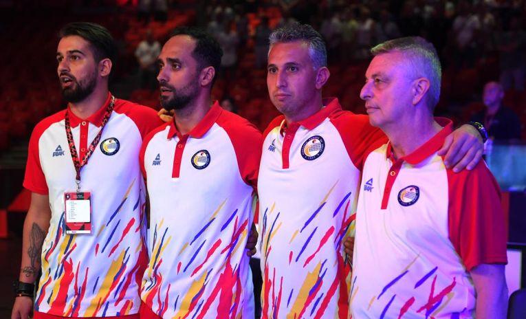 Staff-ul tehnic al echipei României la Campionatul European feminin de volei 2019
