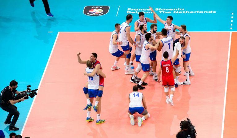 Bucuria sârbilor după calificarea în finala Campionatului European masculin de volei