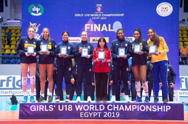 Echipa ideală a Campionatului Mondial feminin de volei U18, editia 2019