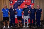 Gianni Crețu, alături de ceilalți antrenori din Grupa D a Campionatului European