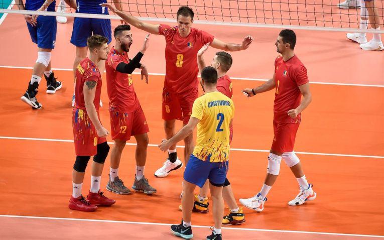 Românii, bucuroși după câștigarea unui punct
