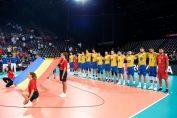 Naționala masculină a României înaintea meciului cu Franța, de la Campionatul European de volei 2019