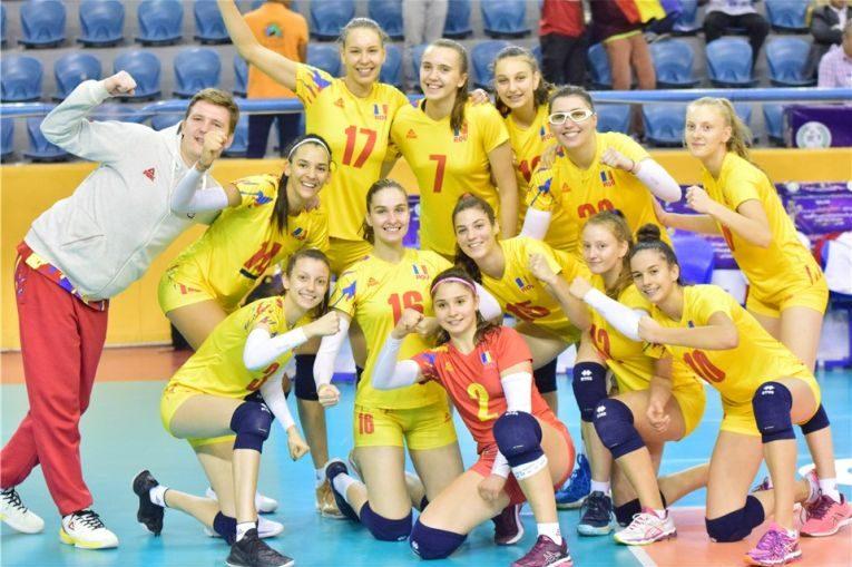 Romania si bucuria calificării in sferturile de finală ale Campionatului Mondial de volei U18
