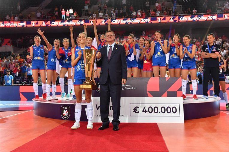 Serbia a ocupat locul 1 la Campionatul European și a primit un cec de 400.000 de euro