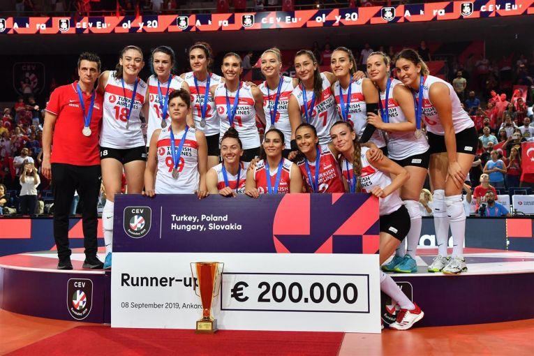 Turcia a ocupat locul 2 la Campionatul European și a primit un cec de 200.000 de euro