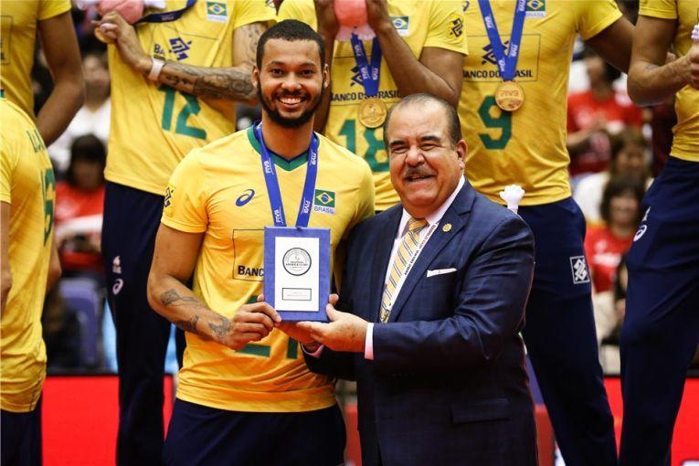 Alan Souza a fost desemnat cel mai bun jucător al Cupei Mondiale 2019 la volei masculin