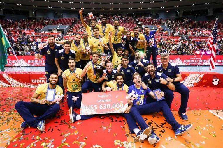 Brazilia a castigat pentru a treia oara in istorie Cupa Mondială la volei masculin