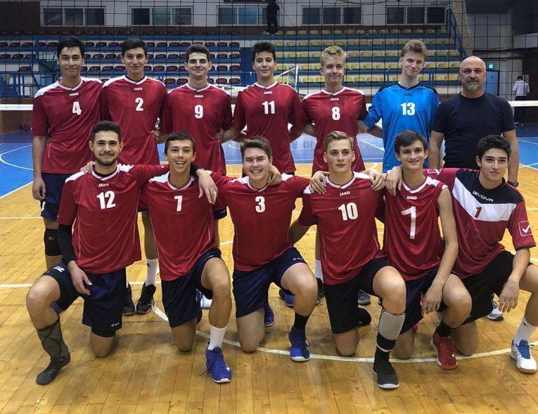 Echipa de cadeti LAPI Dej după meciul din etapa a doua a sezonului 2019/ 2020