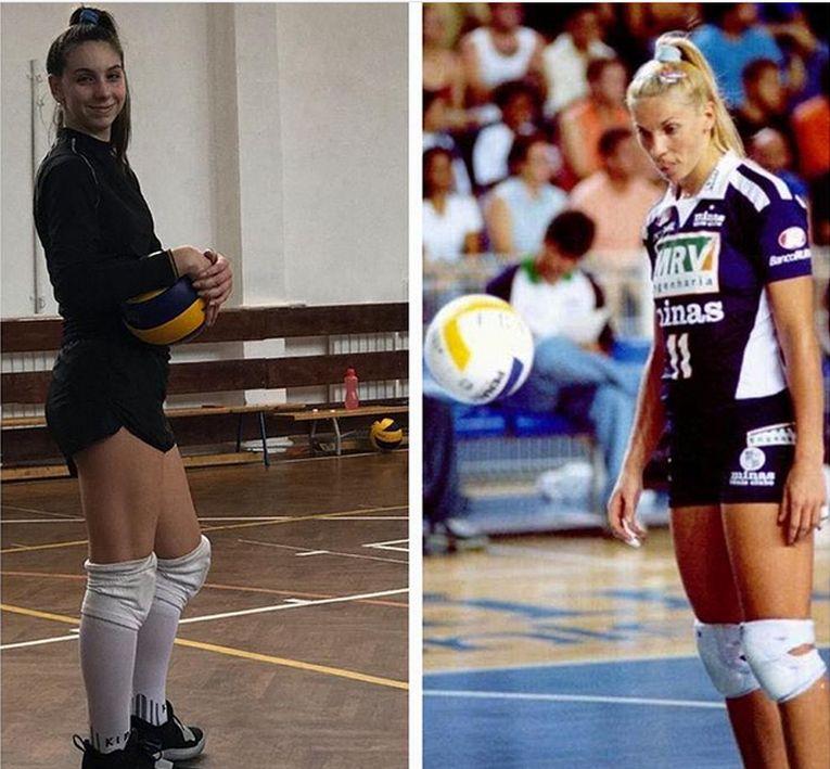 Nicoll Pîrv calcă pe urmele mamei sale, Cristina, una dintre cele mai mari jucătoare de volei din istoria României
