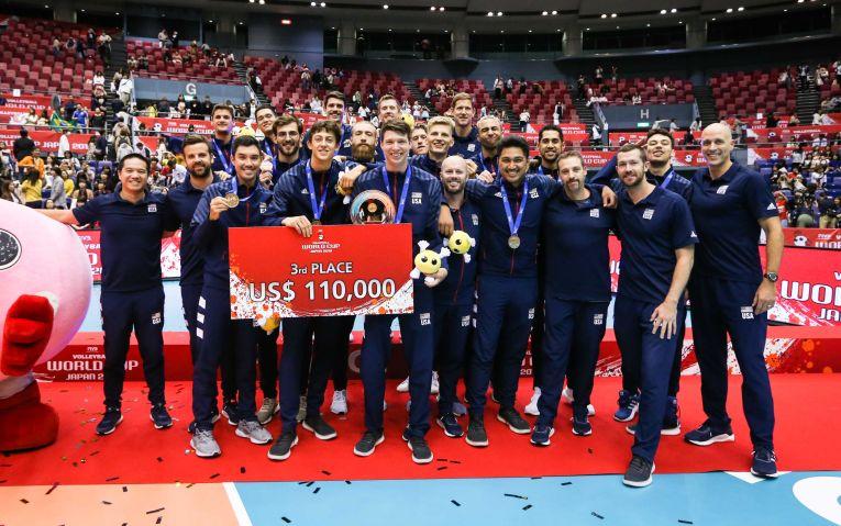 SUA a cucerit medalii de bronz la Cupa Mondială 2019 la volei masculin