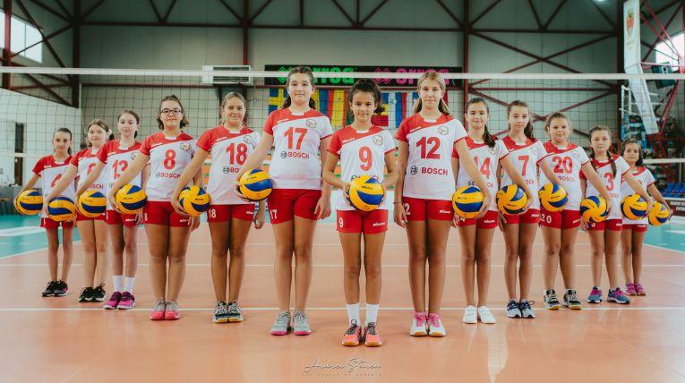 Echipa de minivolei ACS Atomic Blaj la primul turneu al campionatului 2019/ 2020