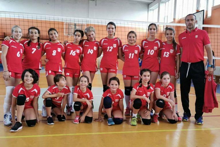Echipa de minivolei Dinamo la primul turneu al campionatului 2019/ 2020