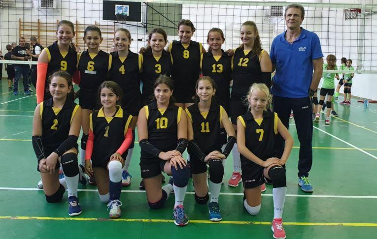 Echipa de minivolei CSS Sibiu la primul turneu al campionatului 2019/ 2020