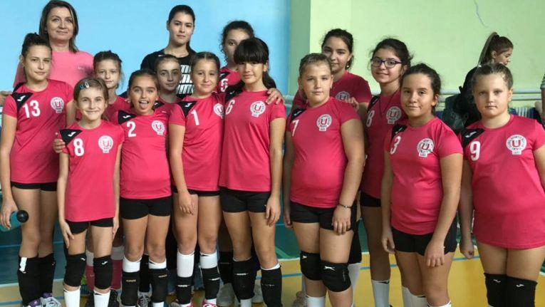 Echipa de minivolei CSS Unirea Iasi la primul turneu al campionatului 2019/ 2020