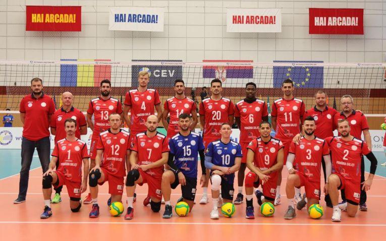 Arcada Galati, pentru sezonul 2019/ 2020 al Ligii Campionilor la volei masculin