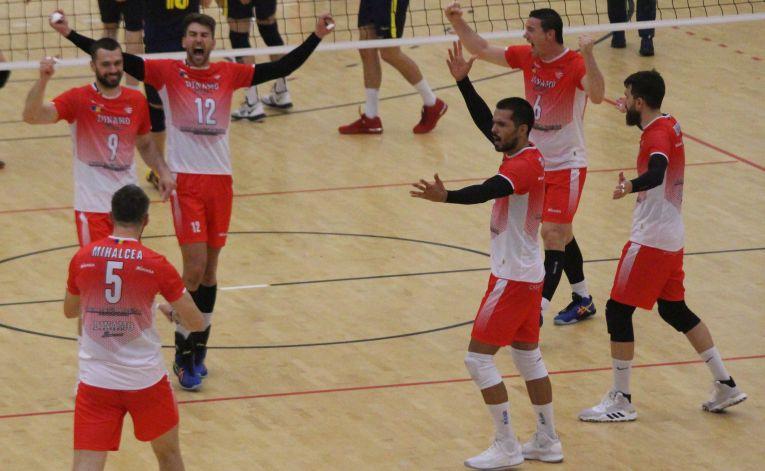 Dinamo este neînvinsă în acest sezon al Diviziei A1 la volei masculin