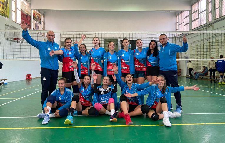 Echipa de cadete Bravol Brașov după victoria din etapa a treia a campionatului 2019/ 2020