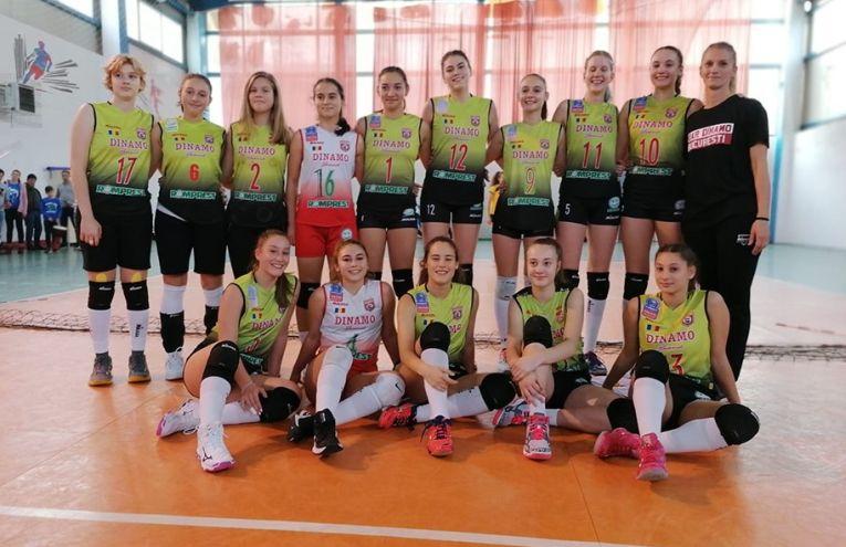 Echipa de cadete Dinamo, după victoria din etapa a treia a campionatului 2019/ 2020