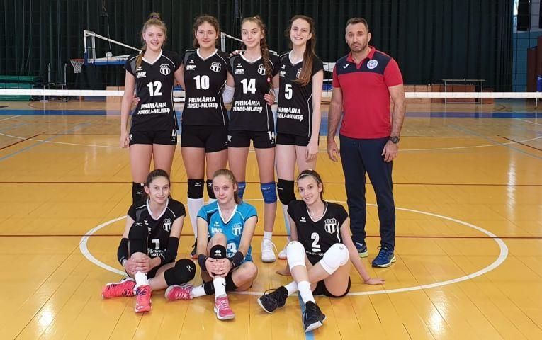 Echipa de cadete Medicina Târgu Mures, în meciul din etapa a treia a campionatului 2019/ 2020