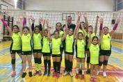 Echipa feminin[ de minivolei LPS Brăila la al doilea turneu al campionatului 2019/ 2020