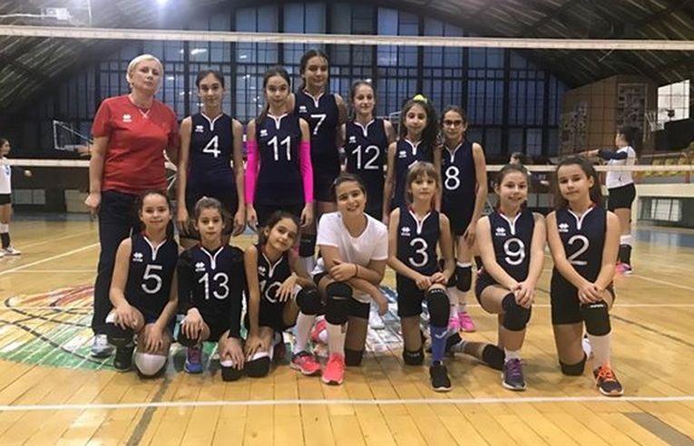 Echipa feminin[ de minivolei CNNT Craiova la al doilea turneu al campionatului 2019/ 2020