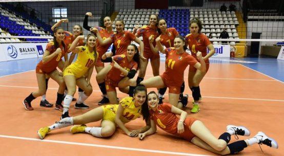 Bucuria nationalei U17 a Romaniei după victoria cu Bulgaria, de la turneul balcanic de calificare la Campionatul European