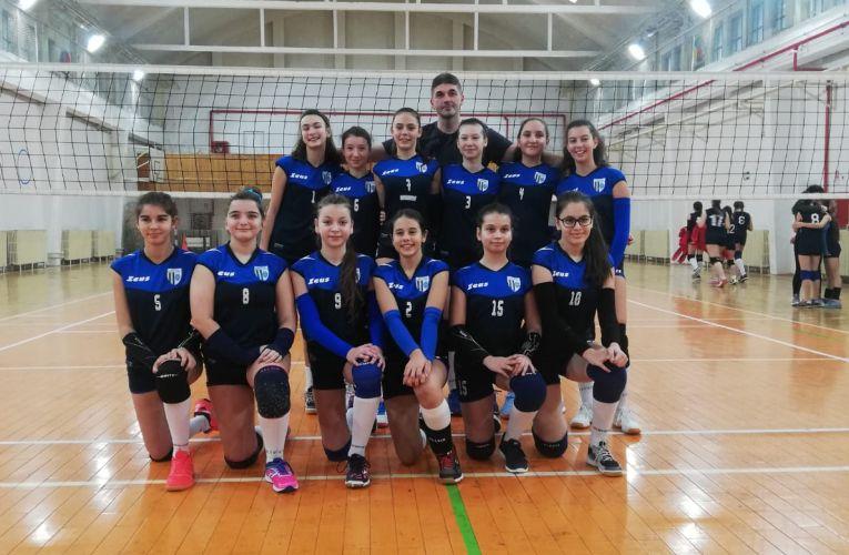 Echipa feminină de sperante CSM Ploiești, in cel de-al doilea turneu al campionatului 2019/ 2020