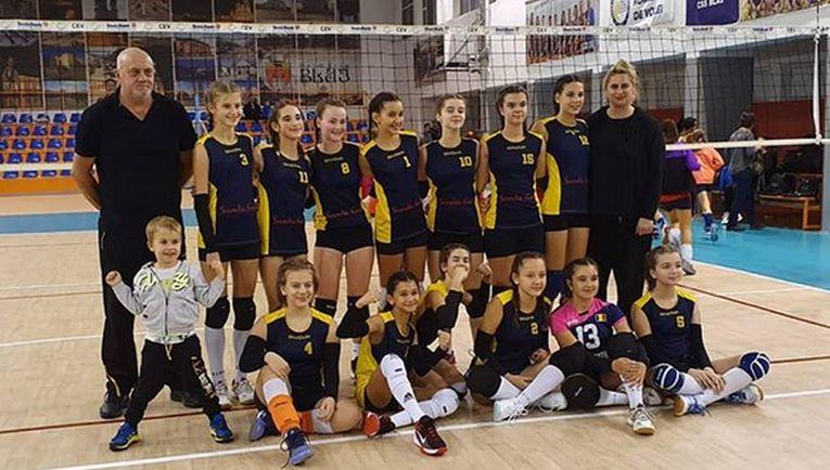 Echipa feminină de sperante CSS Sibiu, in cel de-al doilea turneu al campionatului 2019/ 2020