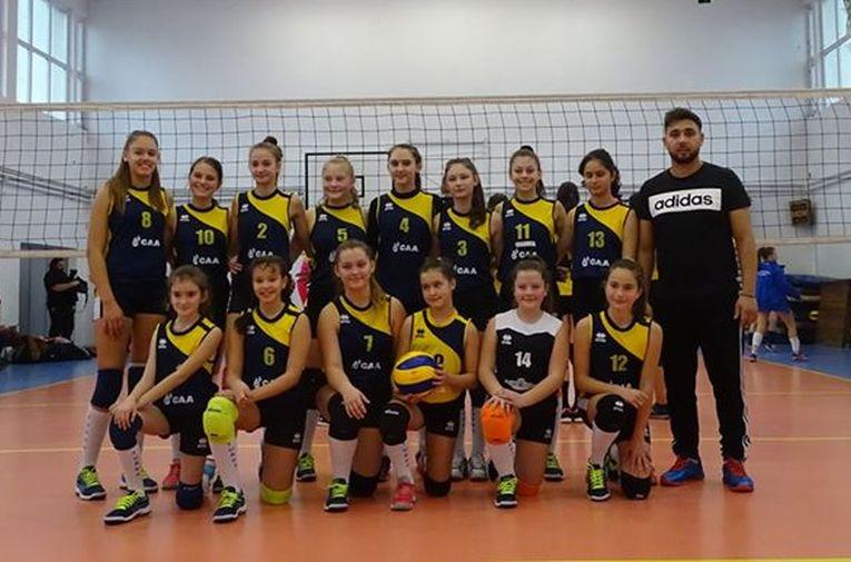 Echipa feminină de sperante CSS Turda, in cel de-al doilea turneu al campionatului 2019/ 2020