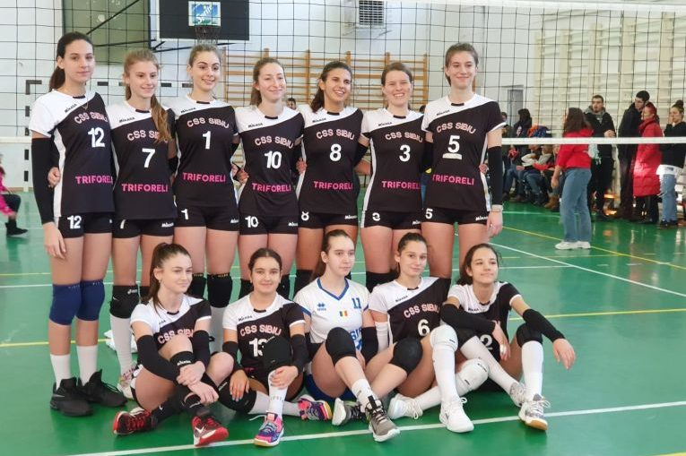 Echipa de cadete CSS Sibiu după victoria din etapa a șaptea