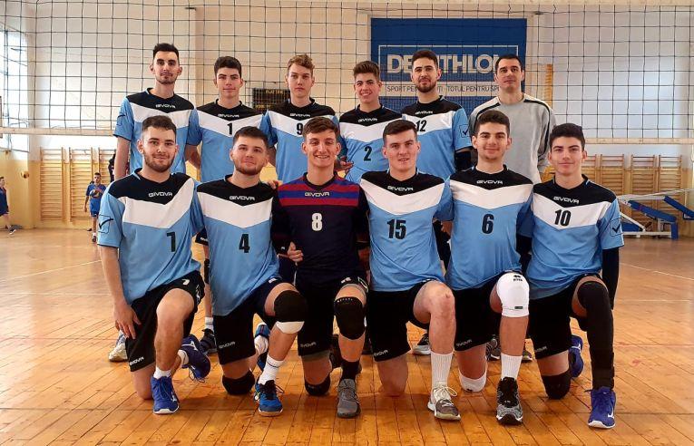 Echipa de juniori LAPI Dej după meciul câștigat în etapa a șaptea a campionatului 2019/ 2020