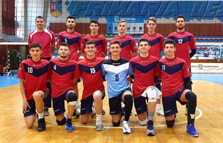 Echipa de juniori LAPI Dej după meciul din etapa a opta a campionatul ui 2019/ 2020
