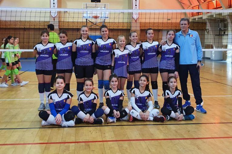 Echipa feminină de minivolei CSS Sibiu