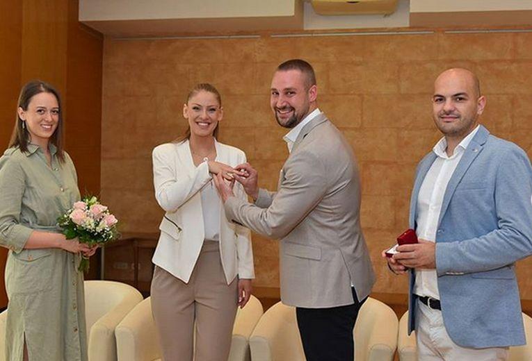 Katarina Jovanovic și momentul în care soțul i-a pus verigheta pe deget