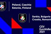 Așa arată cele două logo-uri ale Campionatelor Europene de volei care vor avea loc în 2021
