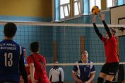 Tudor Constantinescu, setter of junior volleyball team CTF Mihai I in action