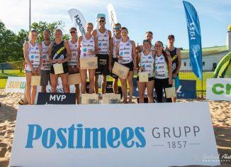 Competițiile de volei pe plajă organizate în weekend în Estonia au avut o participare record