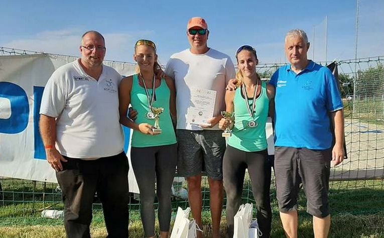 Adrian Pricop este antrenorul perechii campioane a Ungariei la volei pe plajă