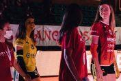 Adelina Ungureanu, la prezentarea oficială a lotului formației Cuneo pentruy campionatul 2020/ 2021