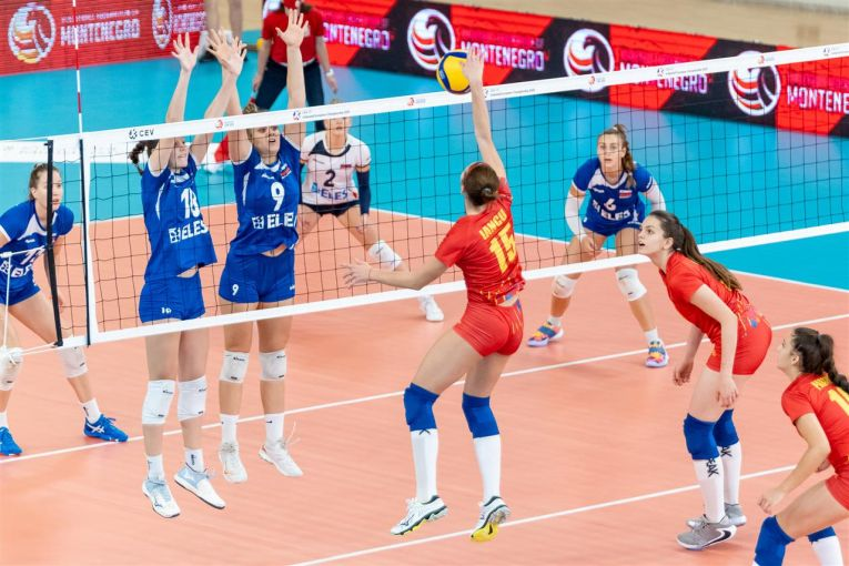 Teodora Iancu a făcut cele maimultepuncte pentru România în meciul câștigat cu Slovenia, de la Europenele U17