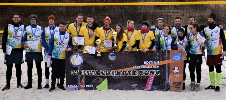 Laureații celei de-a doua ediții a Campionatelor Naționale de Volei pe Zăpadă