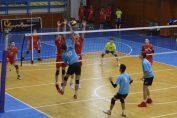 Imagine din meciul CSS Zalău - Academia de Volei Lazăr Marius