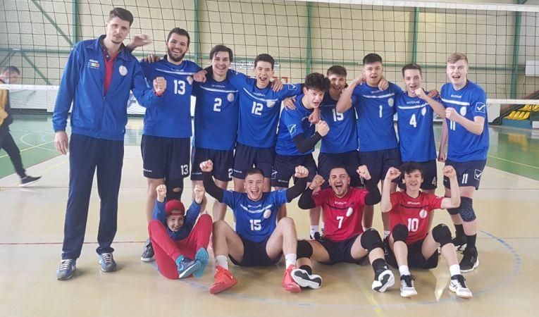 Echipa de juniori Arcada Galați după victoria cu CSS Tulcea