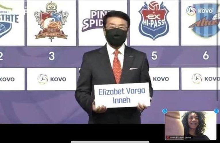 Momentul în care numele Elizei Varga a fost anunțat în draft-ul coreean