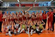 Echipa de junioare Dinamo după victoria cu CSM București de la turneul final