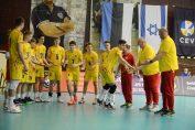 Naționala Under 17 a României înaintea meciului cu Rusia, din preliminariile Campionatului European