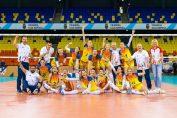 Bucuria naționalei României după victoriile de la Golden League
