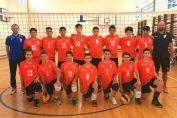 Echipa masculină de minivolei CSM București la turneul final al campionatului 2020/ 2021